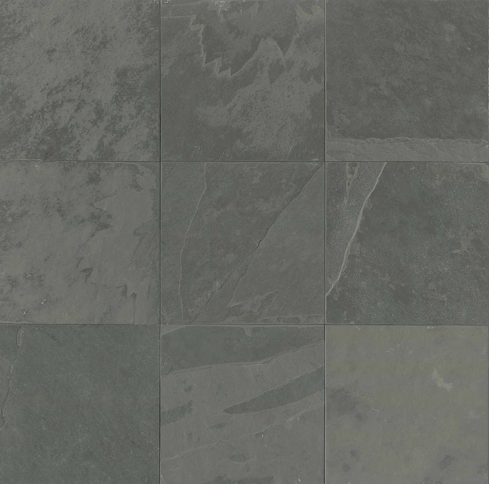 Country grey brushed los angeles slate flooring tile 16x16 for 16x16 floor tile